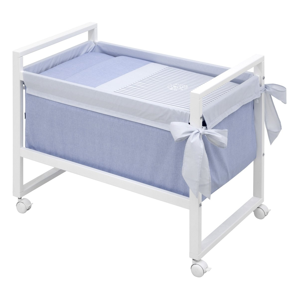 Small bed next denim blue 55x88x72 cm cambrass - Bed cm ...