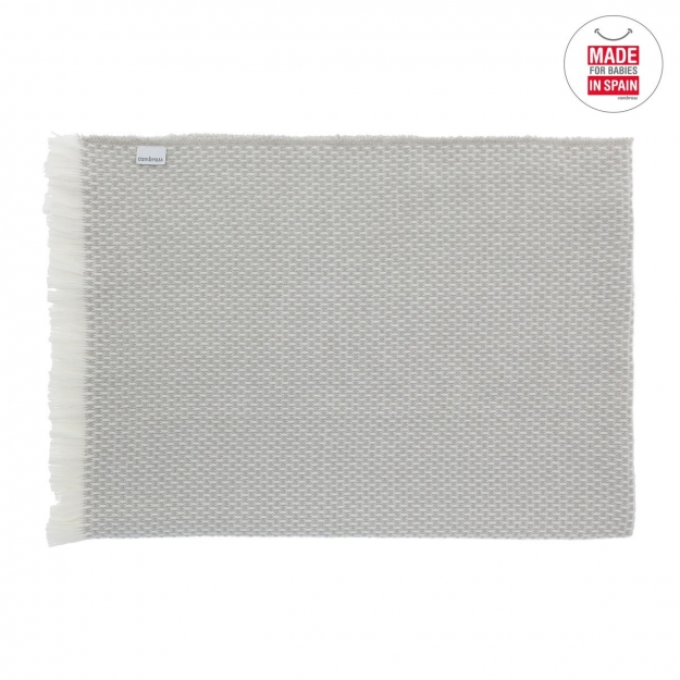 MANTA PLAID BASIC GRIS 75x110 CM