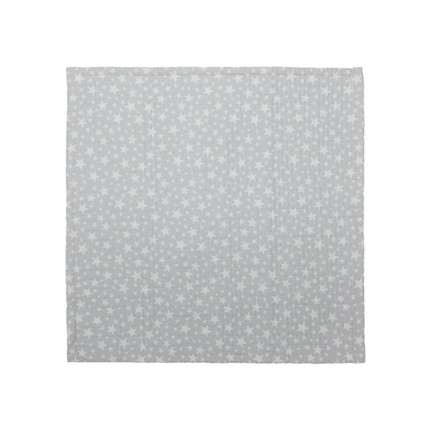 BOUTI BEDSPREAD STAR  GREY