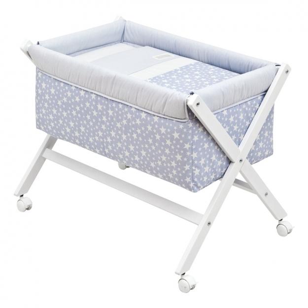 SMALL BED X WOOD UNE STAR BLUE 55x87x74 CM