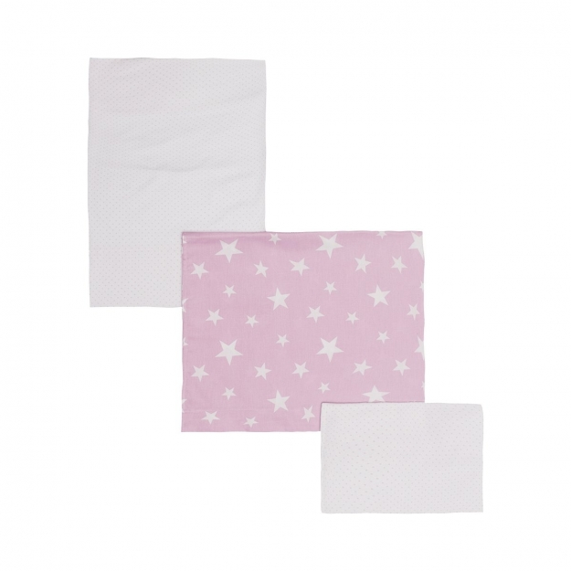 SET 3 PCS. COT FLAT SHEET BE UNIVERSE PINK