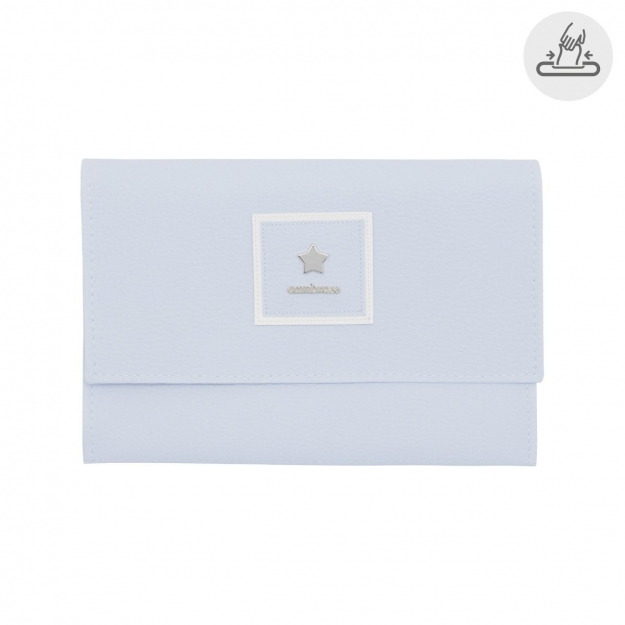 BABY WIPES COVER BASIC BLUE 13x22 CM