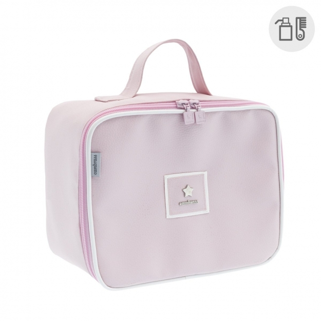 MATERNITY BAG SQUARE BASIC PINK 16x25x21 CM