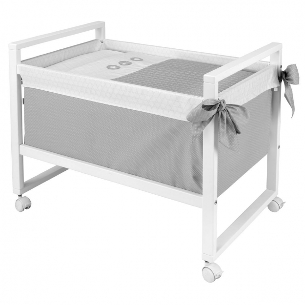 SMALL BED NEXT PIC GREY 55x88x72 CM
