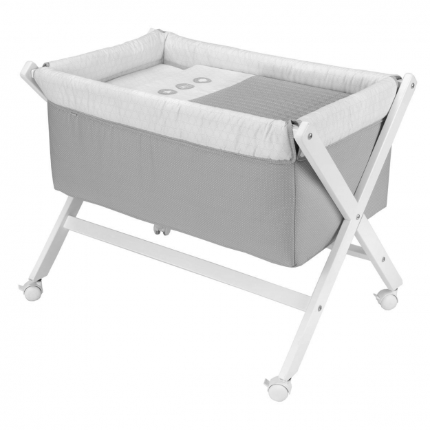 SMALL BED X WOOD UNE PIC GREY 55x87x74 CM