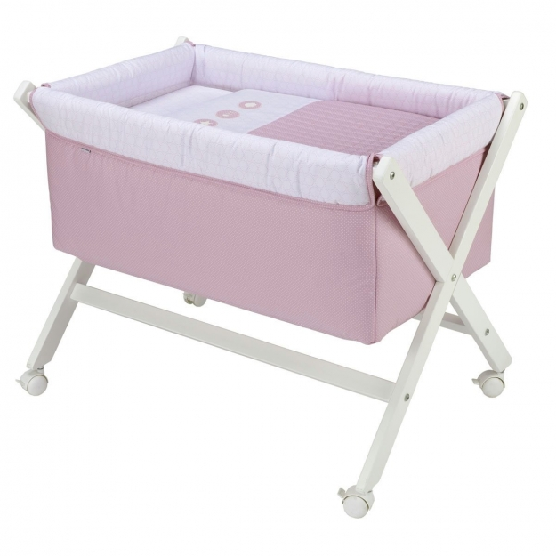 SMALL BED X WOOD UNE PIC PINK 55x87x74 CM