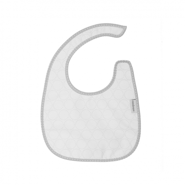 SQUARE BIB VELCRO PIC GREY/CIRCLE 20x26 CM