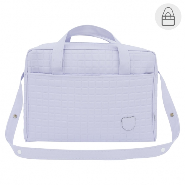 MATERNITY BAG GOFRE BLUE 20x44x33 CM
