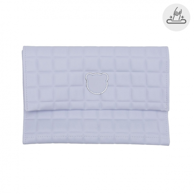 BABY WIPES COVER GOFRE BLUE 13x22 CM