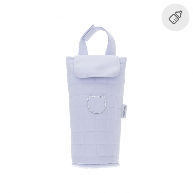 BOTTLE HOLDER GOFRE BLUE 8.5x12.5x21.5 CM