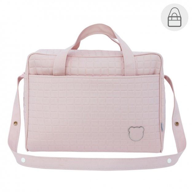 MATERNITY BAG GOFRE PINK 20x44x33 CM
