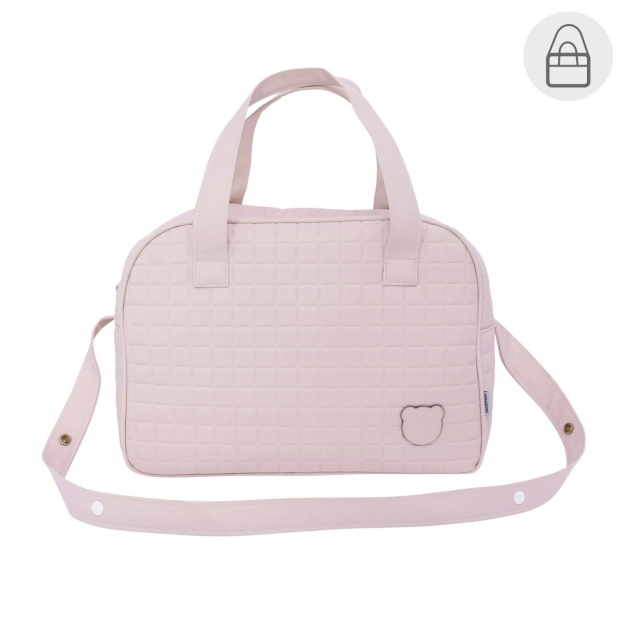 MATERNITY BAG PROME GOFRE PINK 18x44x33 CM