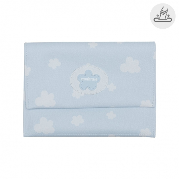 BABY WIPES COVER NUBE BLUE 13x22 CM