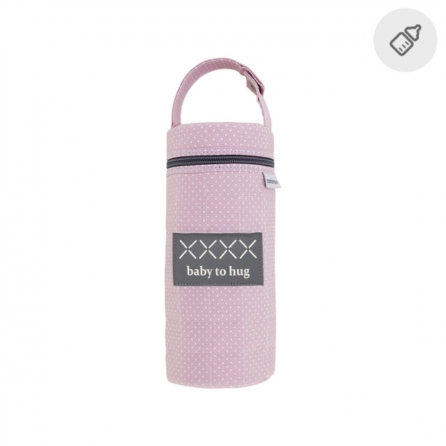 BOTTLE HOLDER PIC PINK 8.5x8.5x22 CM