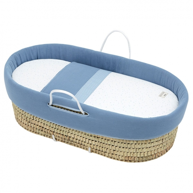 QUILTED BASKET UNE ASTRA BLUE 44x81 CM