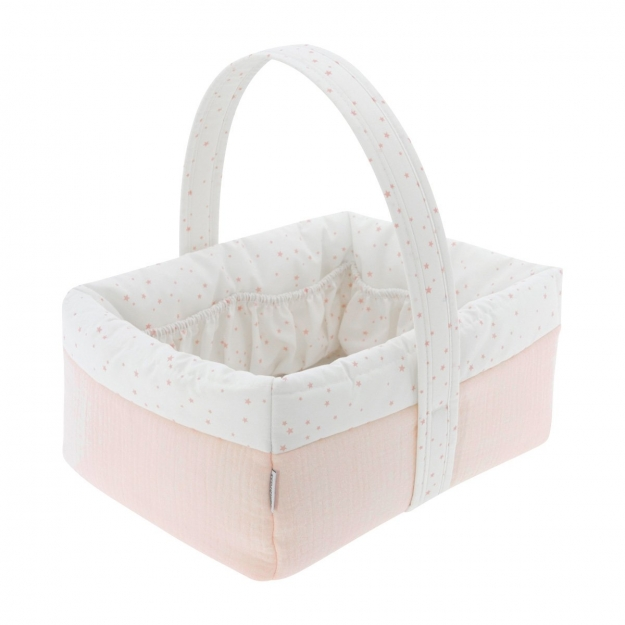CORBEILLE MATELASSEE 22.5x29x29 CM ASTRA ROSE