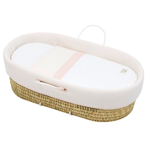 QUILTED BASKET UNE ASTRA PINK 44x81 CM
