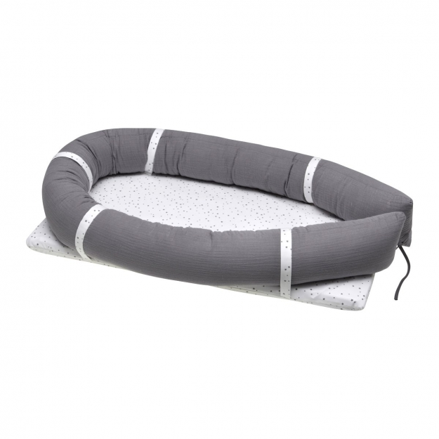 BED IN BED ASTRA 42x77x14 CM GRIS