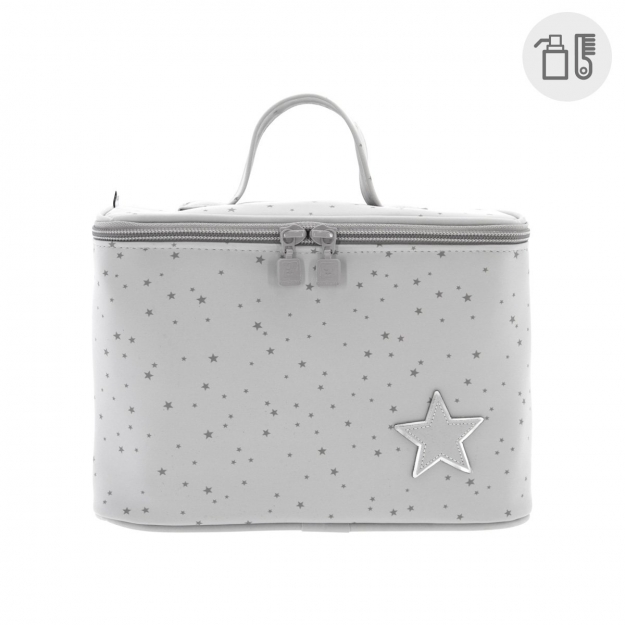 VANITY BAG ASTRA GREY 16x25x16 CM