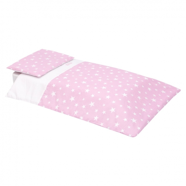 SET QUILT COVER + PILLOW CASE BE UNIVERSE PINK