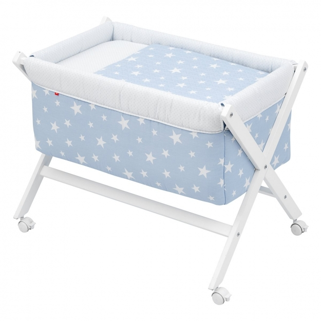 SMALL BED X WOOD UNE BE UNIVERSE BLUE 55x87x74 CM