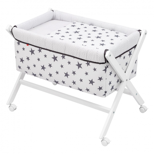SMALL BED X WOOD UNE BE UNIVERSE GREY 55x87x74 CM