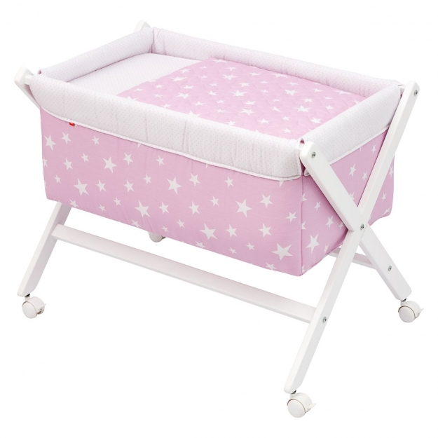 SMALL BED X WOOD UNE BE UNIVERSE PINK 55x87x74 CM