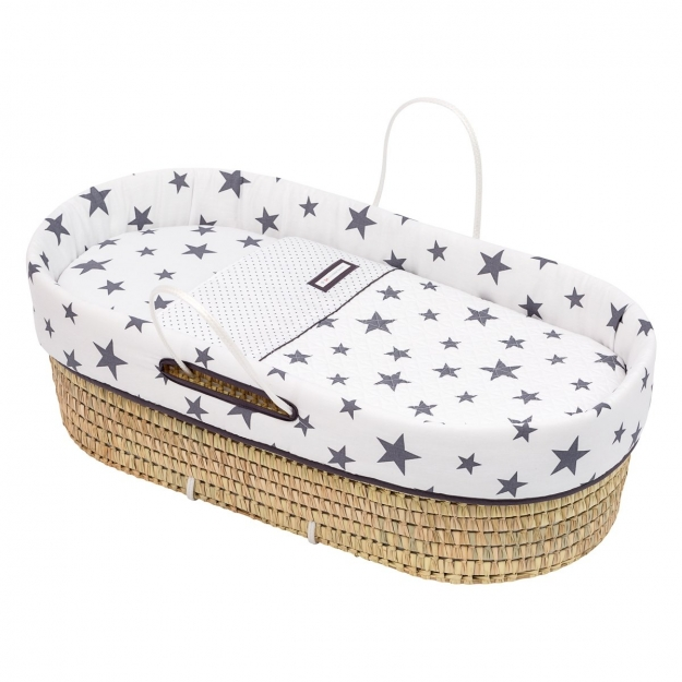 QUILTED BASKET UNE BE UNIVERSE GREY