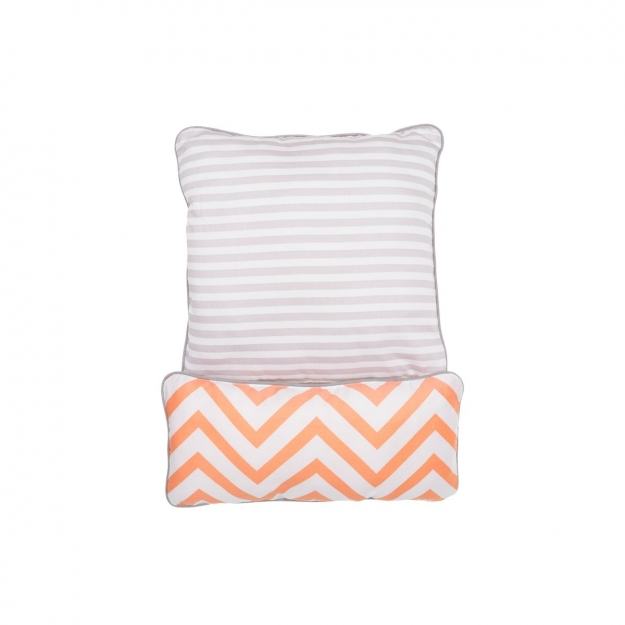 SET 2 PILLOW BE ZIGZAG CORAL ..