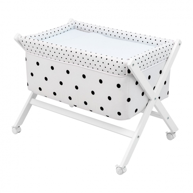 SMALL BED X WOOD UNE BE DOTS BLUE 55x87x74 CM