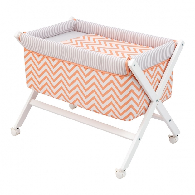 SMALL BED X WOOD UNE BE ZIGZAG CORAL 55x87x74 CM