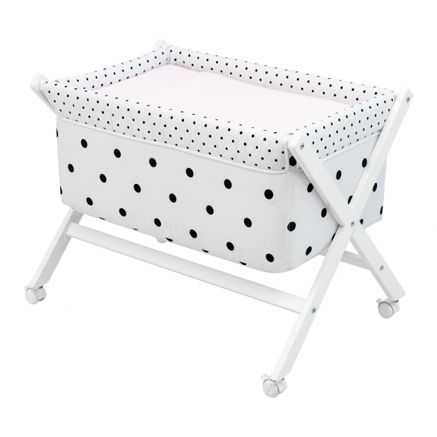 SMALL BED X WOOD UNE BE DOTS PINK 55x87x74 CM