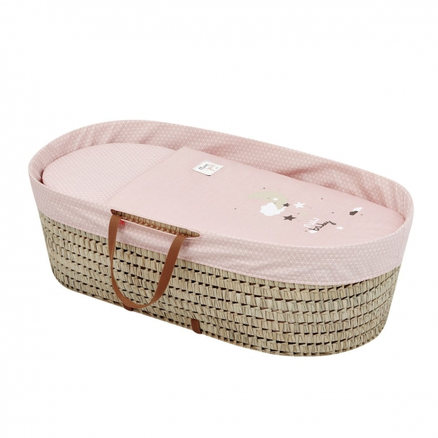 MOSES BASKET UNE BE MOON PINK 44x81 CM