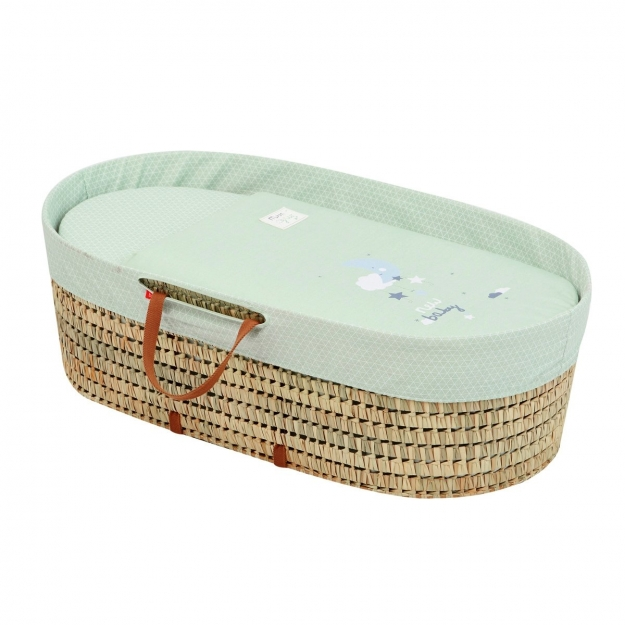 MOSES BASKET UNE BE MOON GREEN 44x81 CM