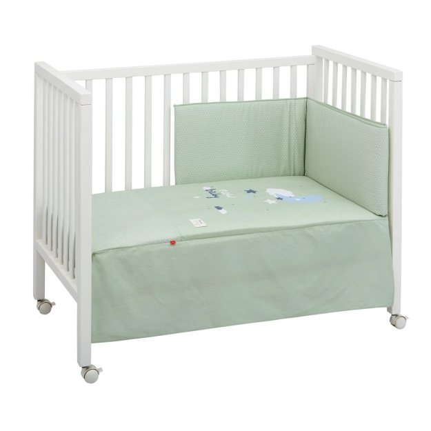 SET 2 PCS.BEDSPREAD W/S COT 60 BE MOON GREEN 60x120 CM
