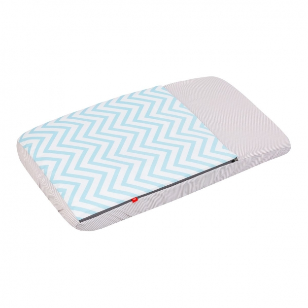 NEST FITTED SMALL BED W/S BE ZIGZAG BLUE 49.5x83.5 CM