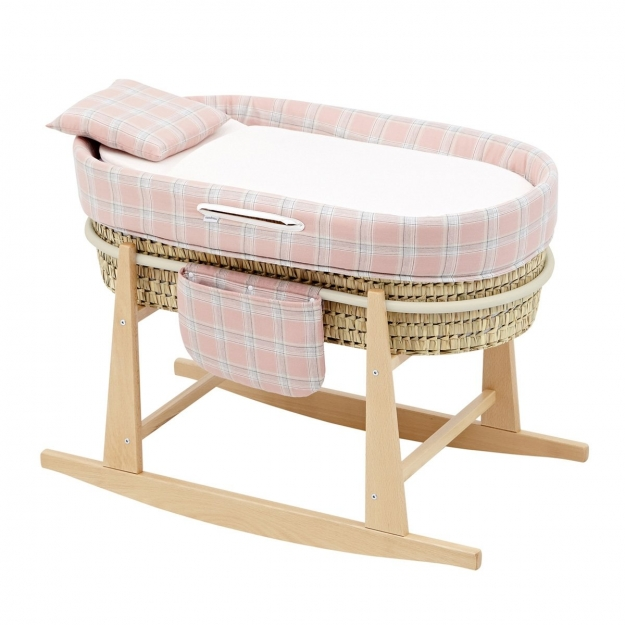 QUILTED BASKET MIO CUCO+W.STAN DETROIT PINK/SQUARES 49x86x61 CM