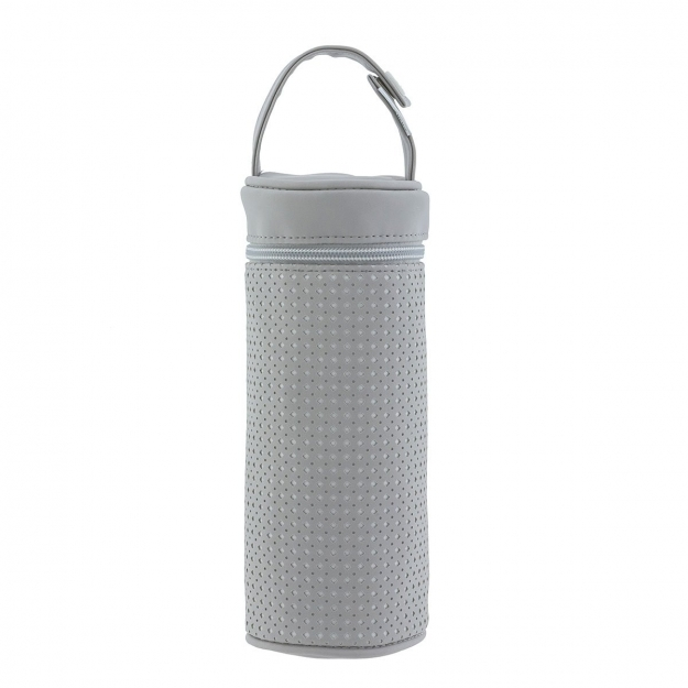 BOTTLE HOLDER PARIS GREY 8.5x8.5x22 CM