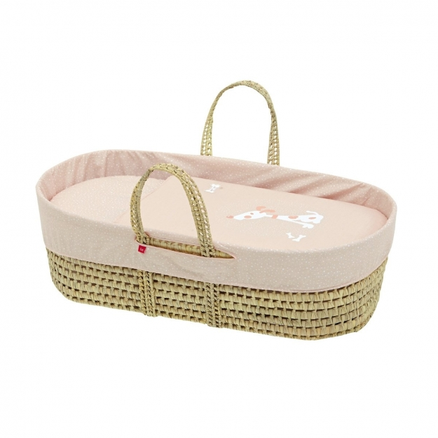 MOSES BASKET UNE BE TECKEL PEACH 39x80x25 CM