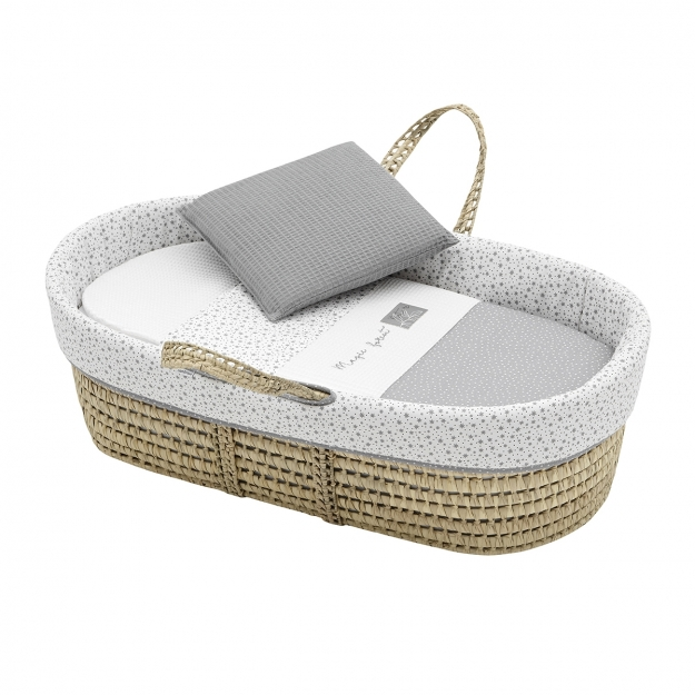 QUILTED BASKET UNE FOREST GREY 39x80x25 CM